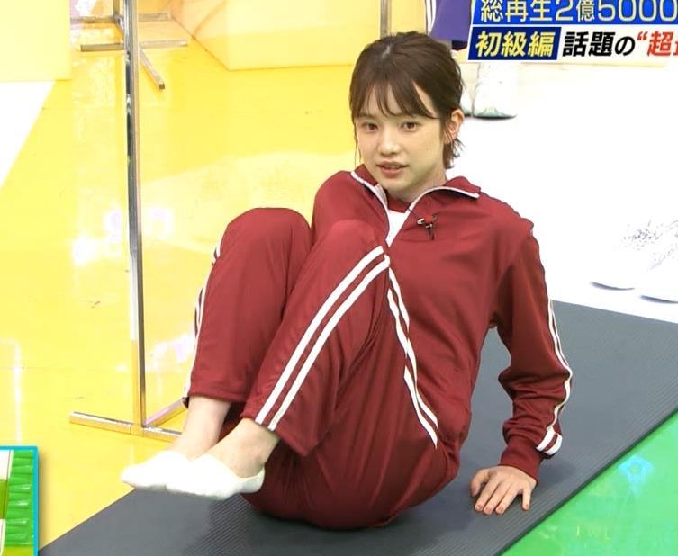 弘中綾香アナ ジャージのエロお尻キャプ・エロ画像