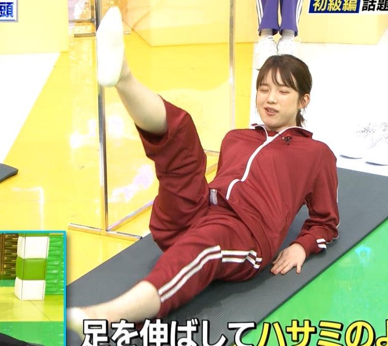 弘中綾香アナ ジャージのエロお尻キャプ・エロ画像2