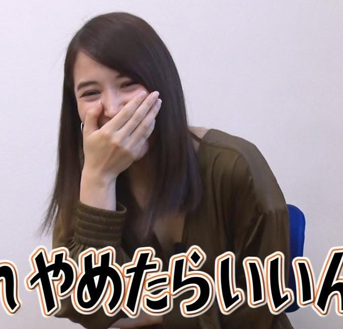 広瀬アリス 胸元が開いた衣装キャプ・エロ画像3