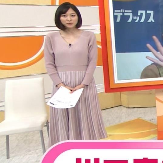 久冨慶子アナ Vネックのニットキャプ・エロ画像