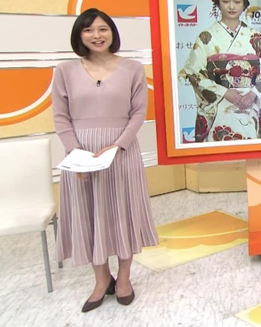 久冨慶子アナ Vネックのニットキャプ・エロ画像2