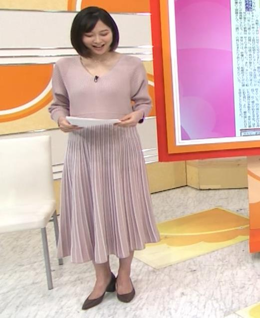 久冨慶子アナ Vネックのニットキャプ・エロ画像3
