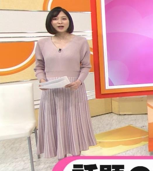 久冨慶子アナ Vネックのニットキャプ・エロ画像4