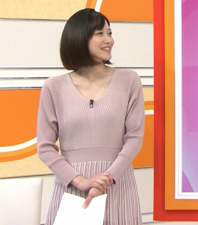 久冨慶子アナ Vネックのニットキャプ・エロ画像6