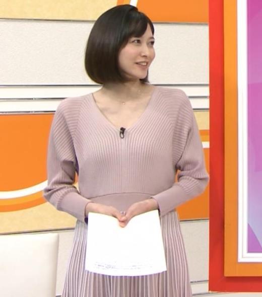 久冨慶子アナ Vネックのニットキャプ画像(エロ・アイコラ画像)