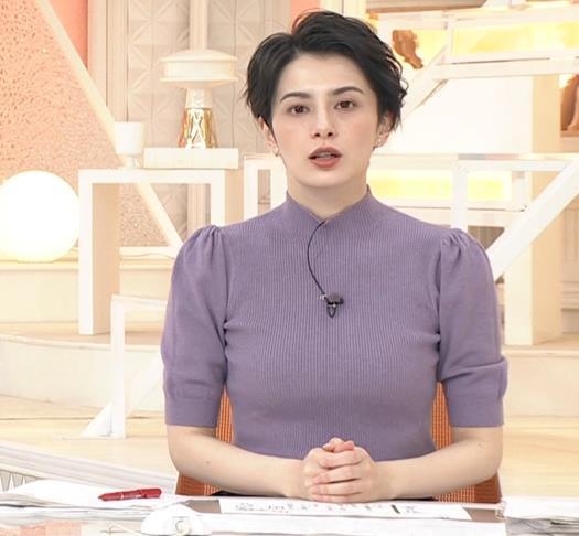 ホラン千秋 ニットのおっぱいキャプ・エロ画像2