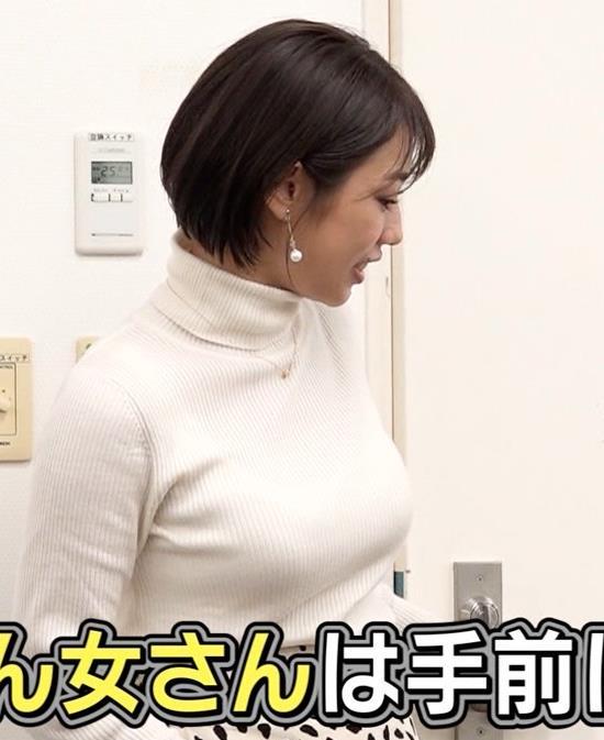 堀江聖夏 巨乳のニットおっぱい♡キャプ・エロ画像2