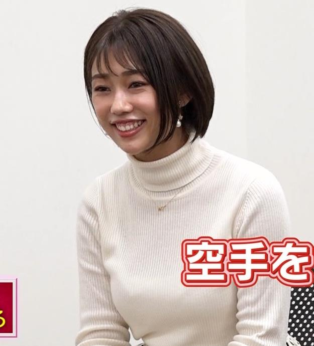 堀江聖夏 巨乳のニットおっぱい♡キャプ・エロ画像5