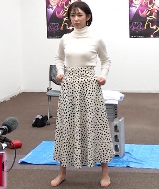 堀江聖夏 巨乳のニットおっぱい♡キャプ・エロ画像6