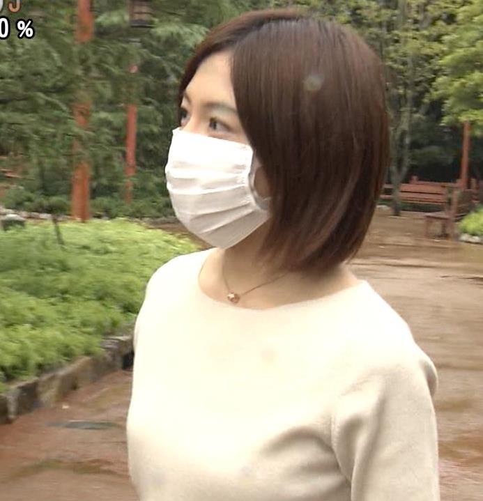 市來玲奈アナ 横乳エロキャプ・エロ画像2