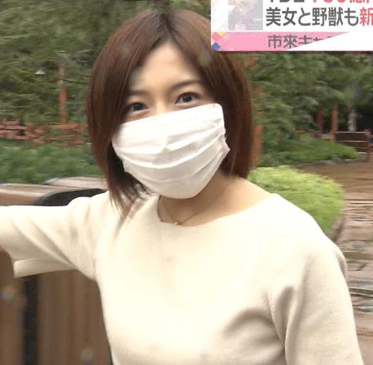 市來玲奈アナ 横乳エロキャプ・エロ画像3