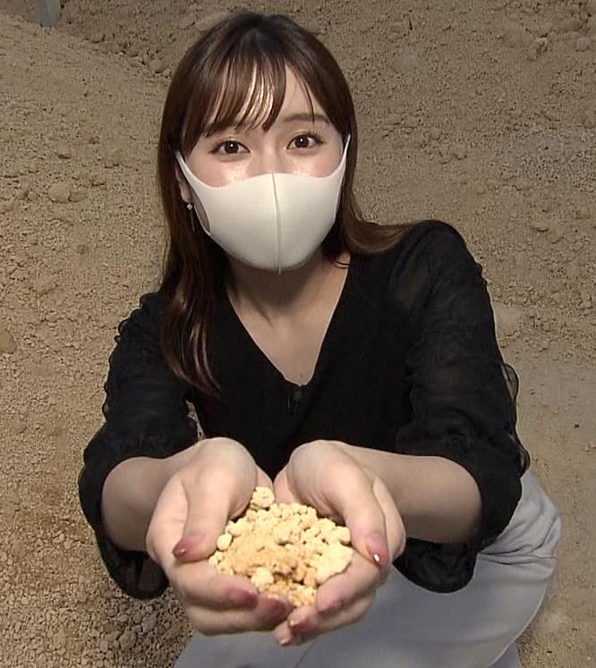 角谷暁子アナ 巨乳横乳♡キャプ・エロ画像3