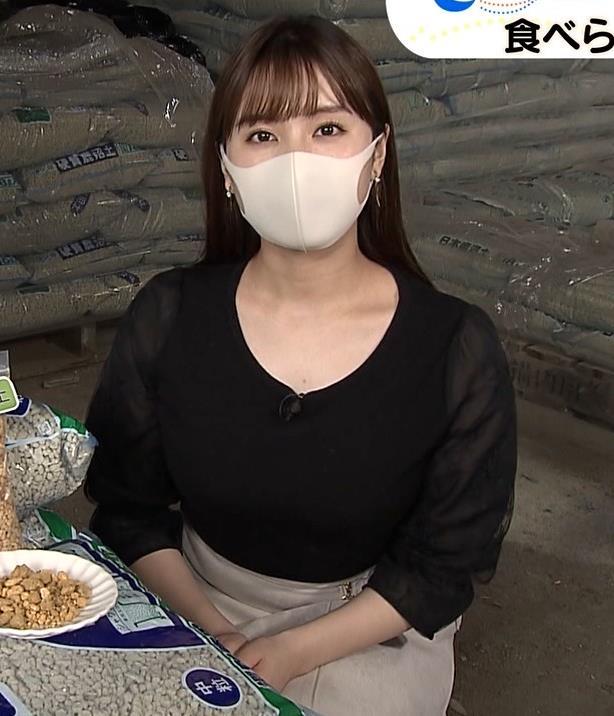 角谷暁子アナ 巨乳横乳♡キャプ・エロ画像4