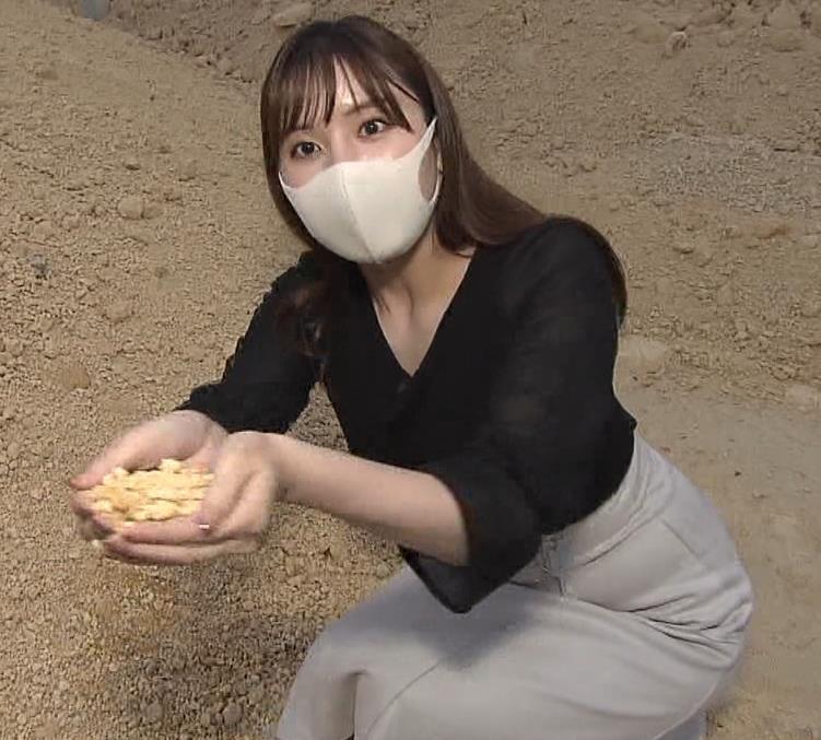 角谷暁子アナ 巨乳横乳♡キャプ・エロ画像6