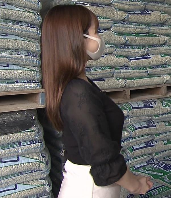角谷暁子アナ 巨乳横乳♡キャプ・エロ画像9