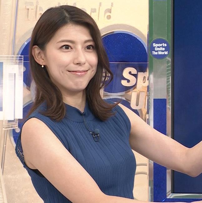 上村彩子アナ ニットおっぱいキャプ・エロ画像3