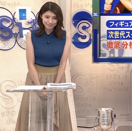 上村彩子アナ ニットおっぱいキャプ・エロ画像7