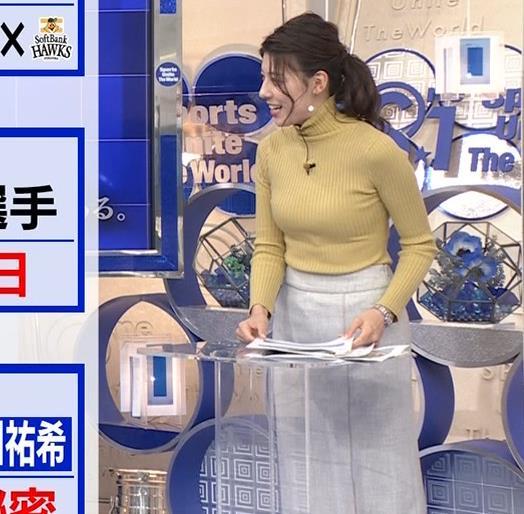 村上彩子アナ タイトなニットキャプ・エロ画像2