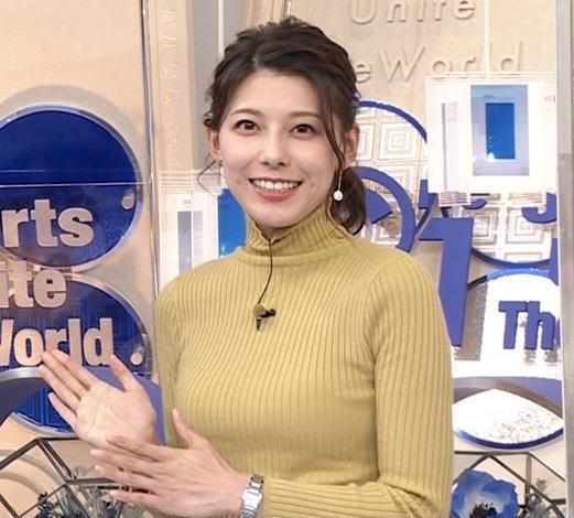 村上彩子アナ タイトなニットキャプ・エロ画像3