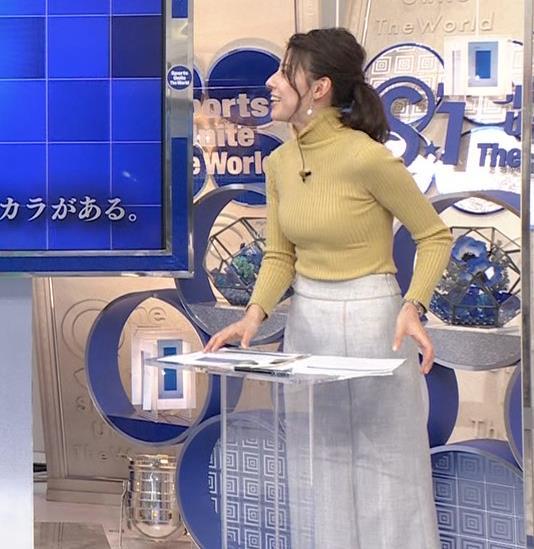 村上彩子アナ タイトなニットキャプ・エロ画像4