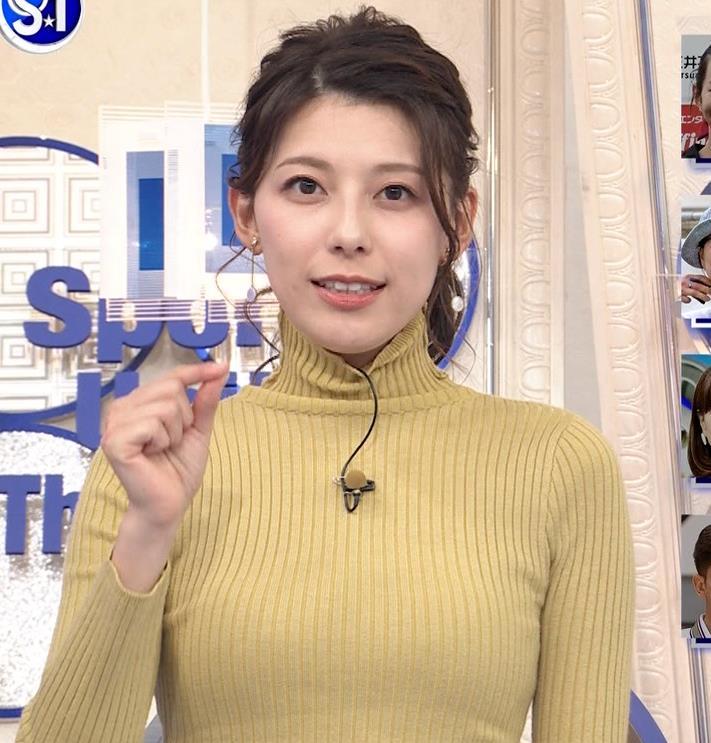 村上彩子アナ タイトなニットキャプ・エロ画像6