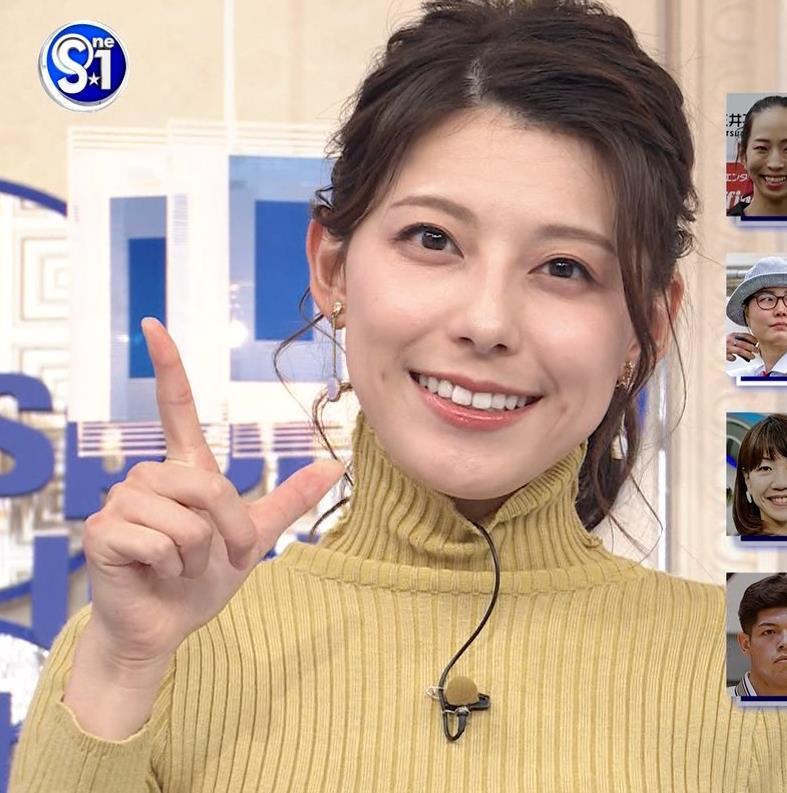 村上彩子アナ タイトなニットキャプ・エロ画像7