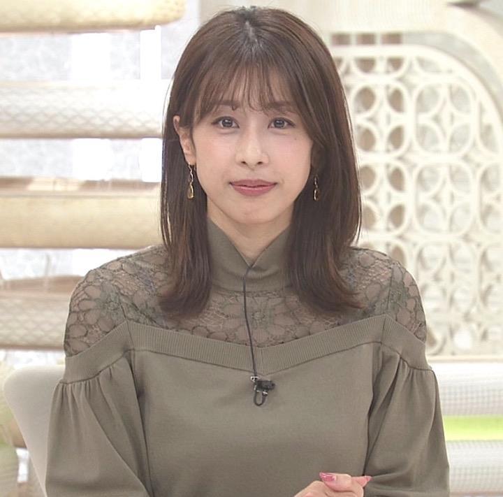 加藤綾子 紫のブラ紐が透けてるキャプ・エロ画像4