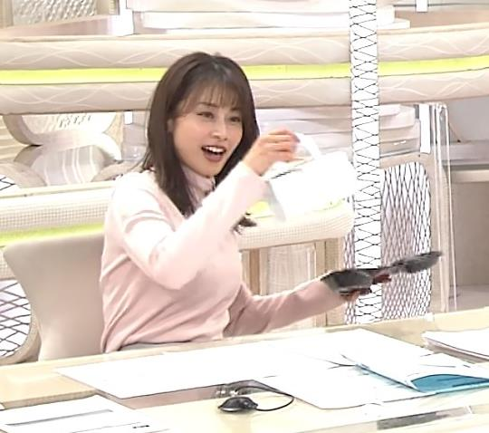 加藤綾子 エロかわいいニットおっぱいキャプ・エロ画像3