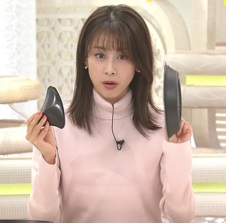 加藤綾子 エロかわいいニットおっぱいキャプ・エロ画像6
