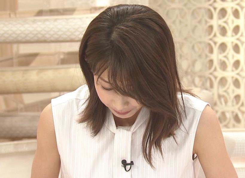 加藤綾子 ノースリーブ・ワキエロキャプ・エロ画像11