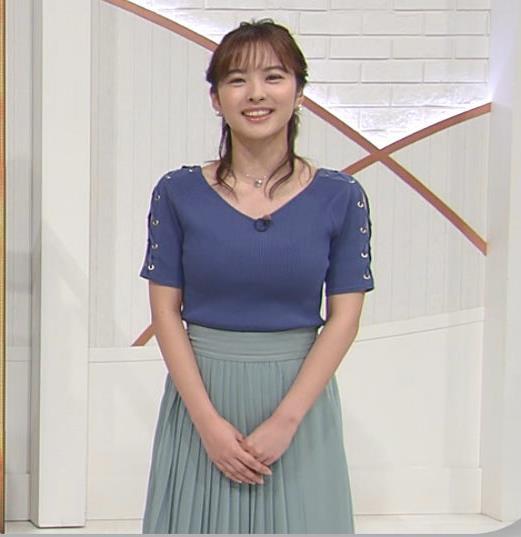 河出奈都美アナ ニットおっぱいキャプ・エロ画像