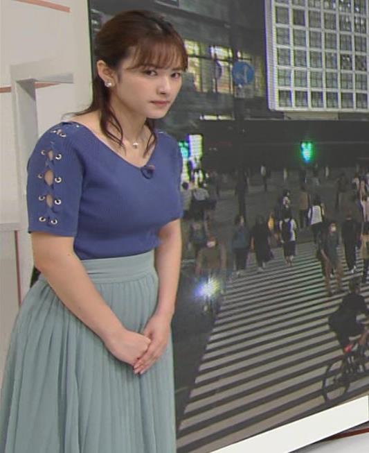 河出奈都美アナ ニットおっぱいキャプ・エロ画像3