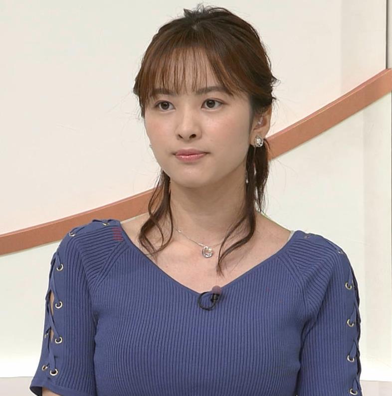 河出奈都美アナ ニットおっぱいキャプ・エロ画像6