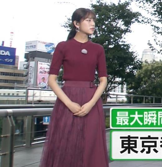 貴島明日香 細身ニットおっぱいキャプ画像(エロ・アイコラ画像)