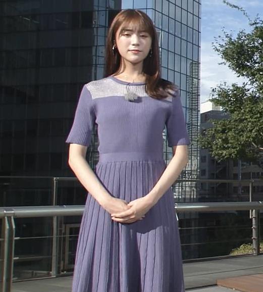 貴島明日香 紫のワンピースキャプ・エロ画像