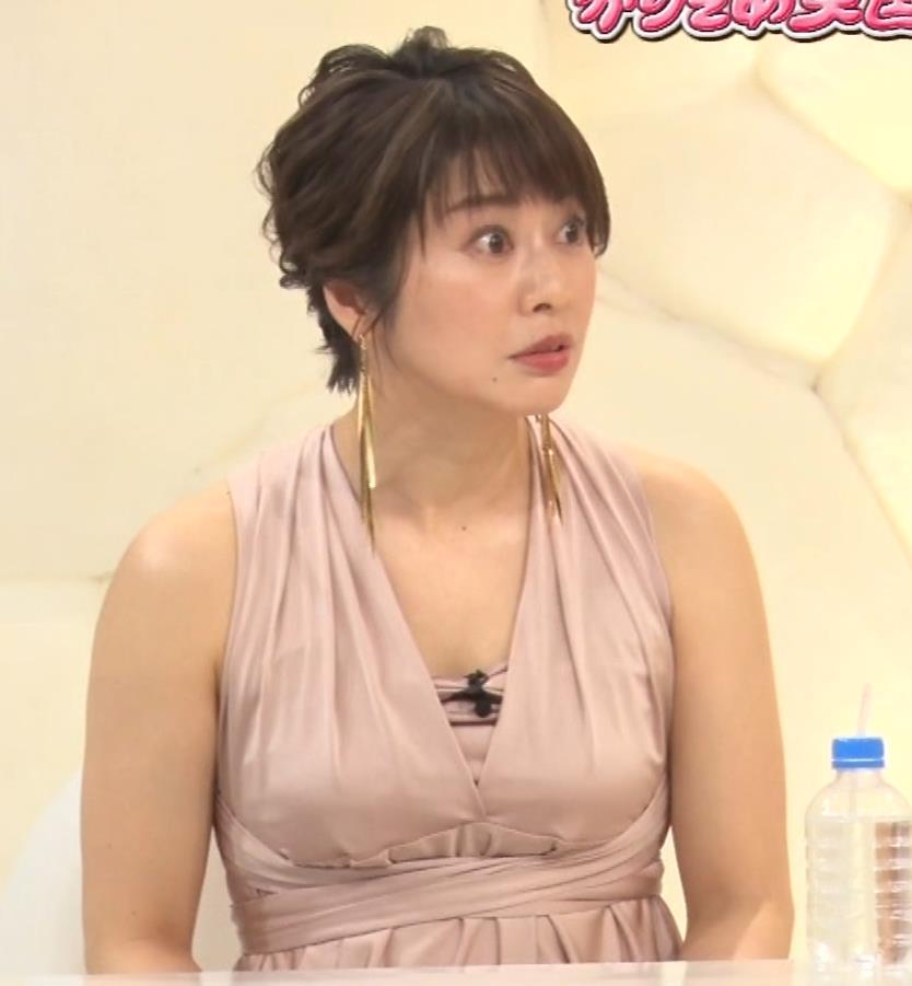 久保田直子アナ セクシードレスの横乳キャプ・エロ画像5