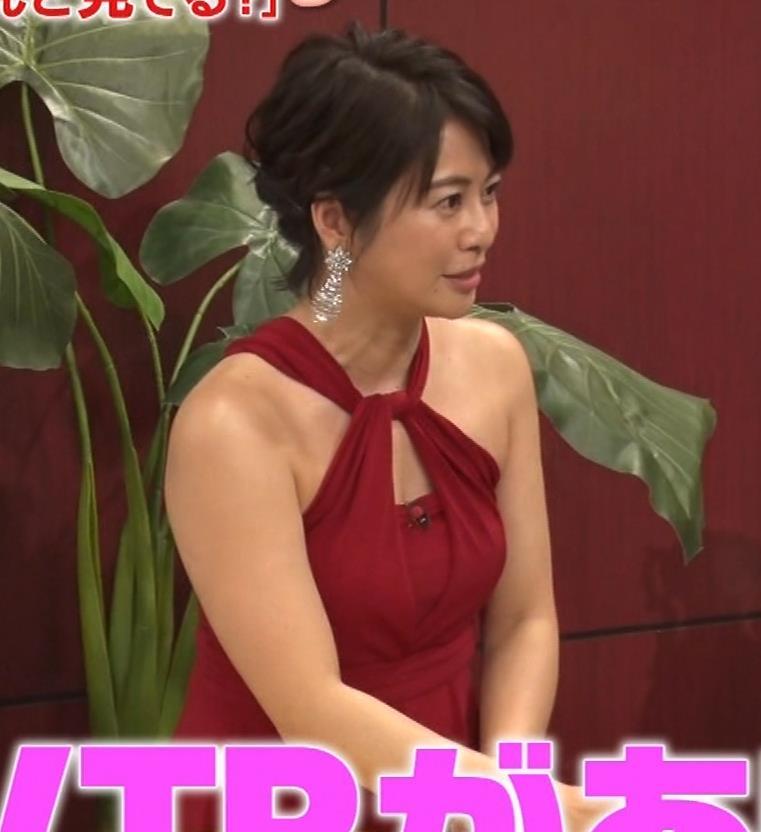 久保田直子アナ 露出度の高いインフィニットドレスキャプ・エロ画像9