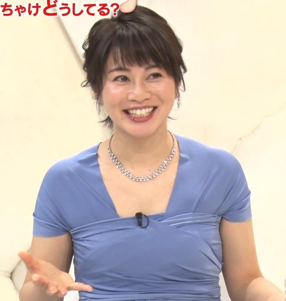 久保田直子アナ 胸元セクシーなワンピースキャプ・エロ画像11
