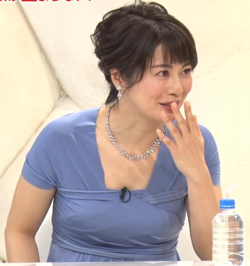 久保田直子アナ 胸元セクシーなワンピースキャプ・エロ画像12