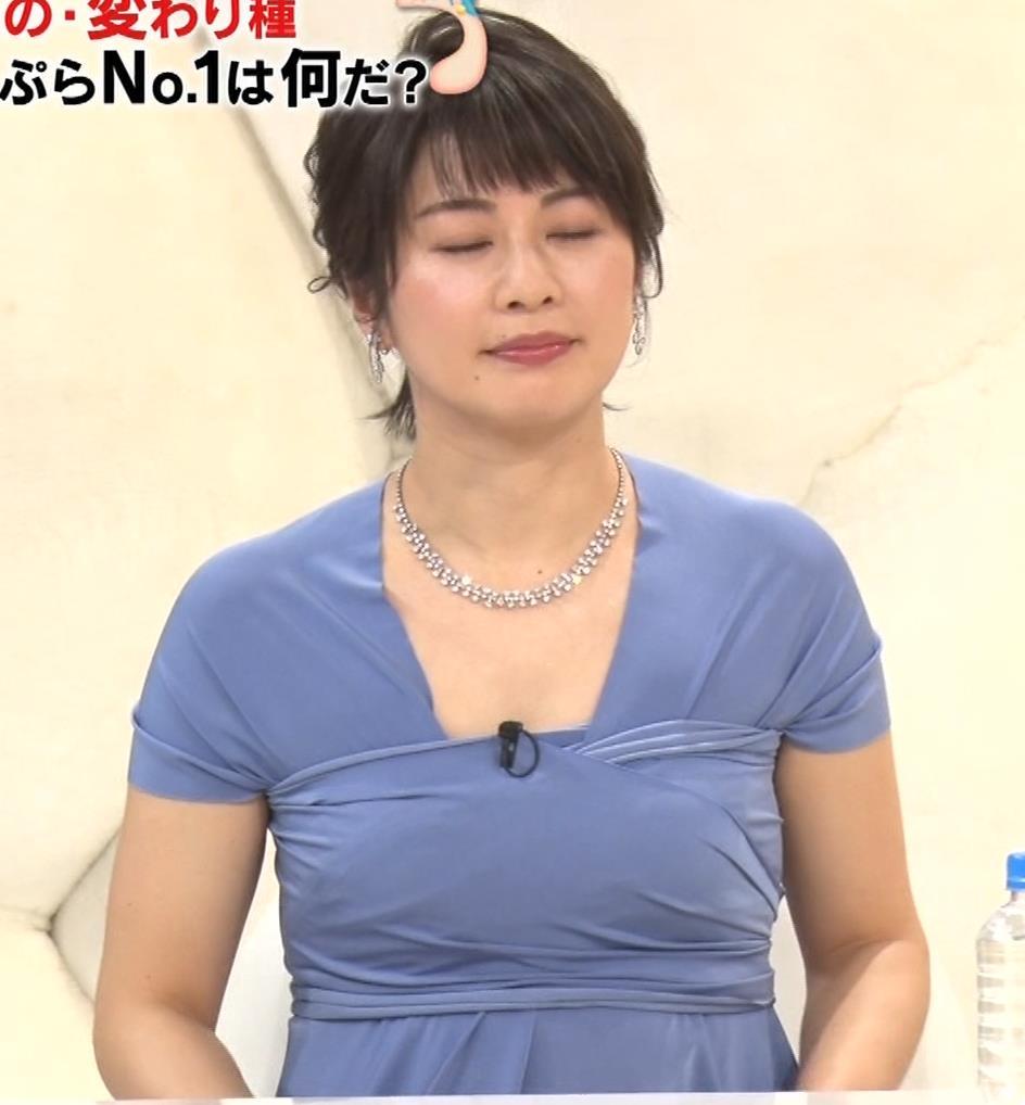 久保田直子アナ 胸元セクシーなワンピースキャプ・エロ画像4