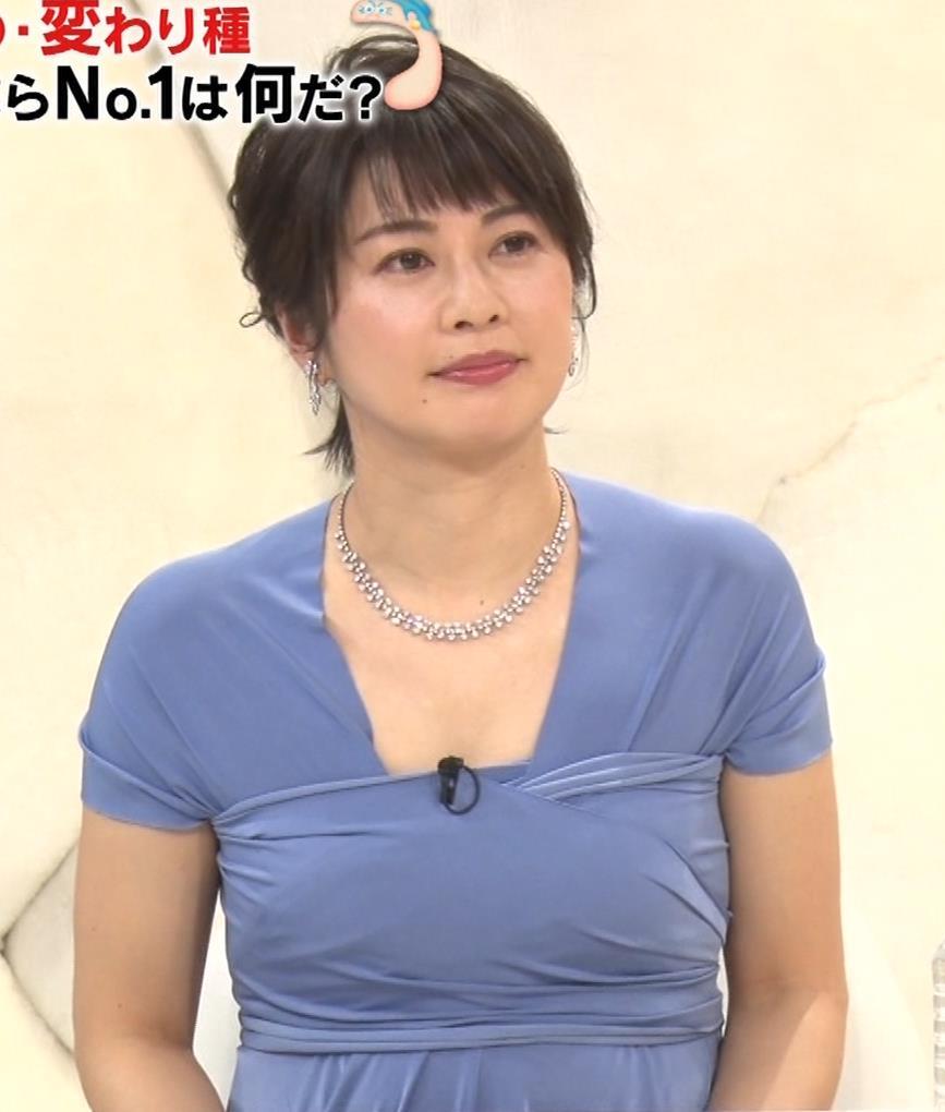 久保田直子アナ 胸元セクシーなワンピースキャプ・エロ画像5