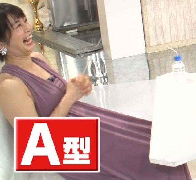 アナ セクシーなドレスの横乳キャプ・エロ画像5