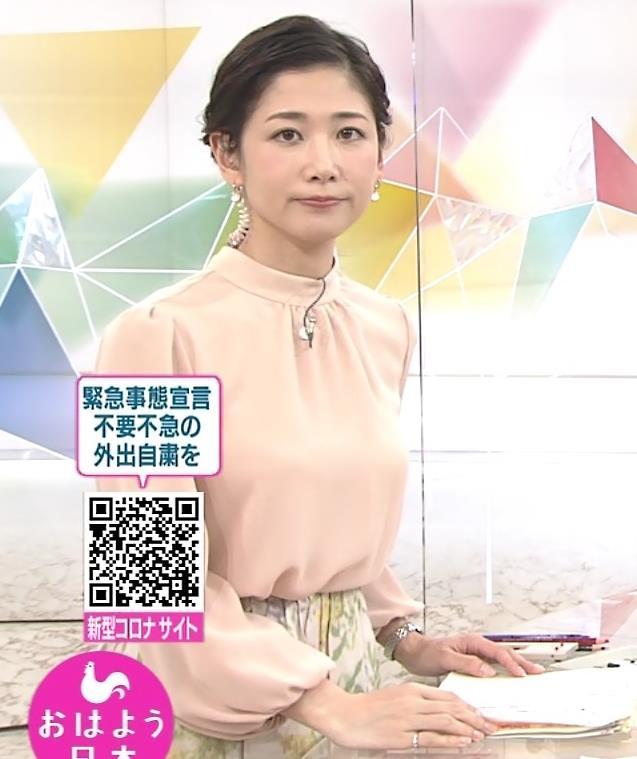 桑子真帆アナ ゆったりしたでも目立つ巨乳キャプ・エロ画像2