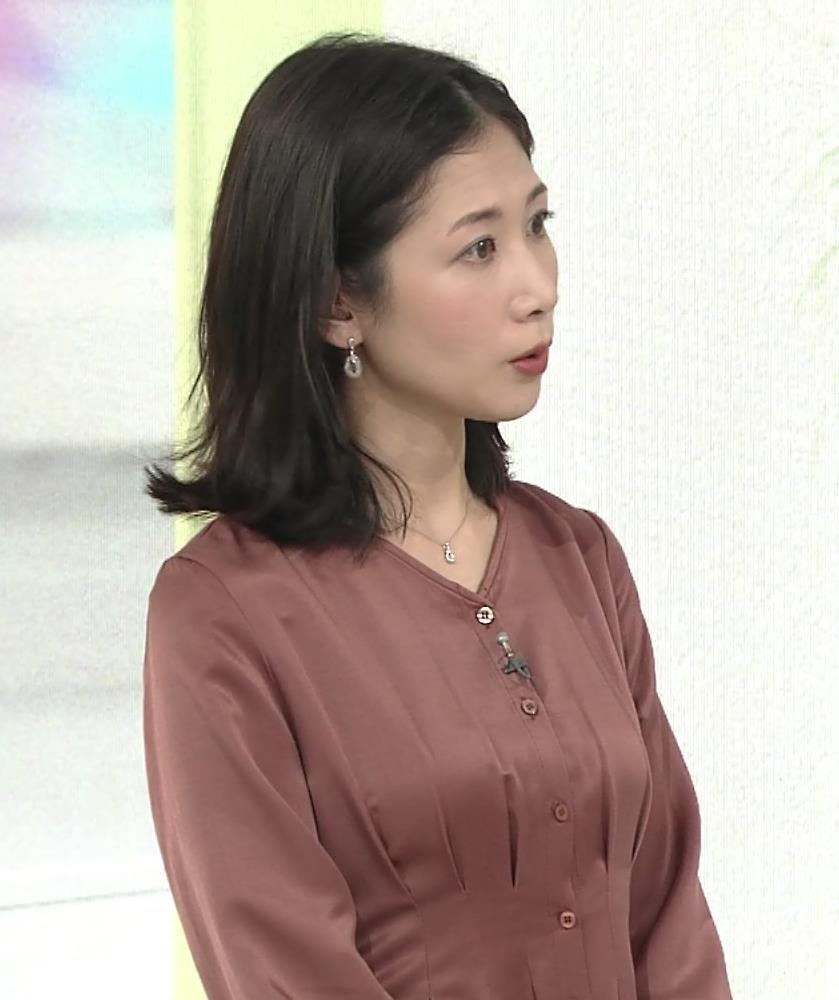 桑子真帆アナ 朝からエロいおっぱいキャプ・エロ画像4