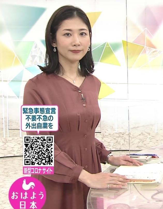 桑子真帆アナ 朝からエロいおっぱいキャプ・エロ画像5