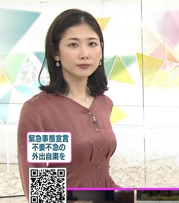 桑子真帆アナ 朝からエロいおっぱいキャプ・エロ画像7