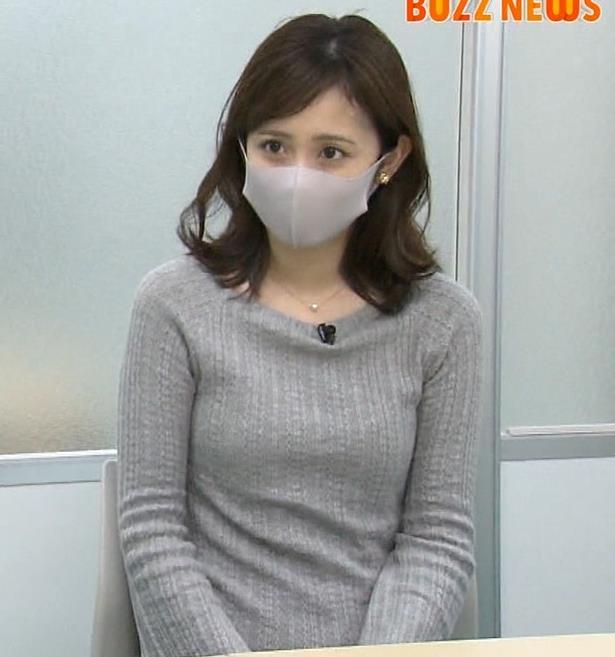 久慈暁子アナ ちっぱいだけどエロいニットおっぱいキャプ・エロ画像
