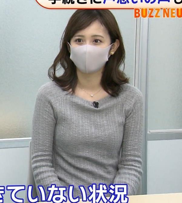 久慈暁子アナ ちっぱいだけどエロいニットおっぱいキャプ・エロ画像3