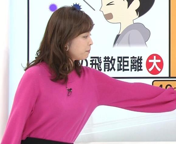 久慈暁子アナ ちっぱいだけどエロいニットおっぱいキャプ・エロ画像5