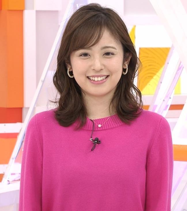 久慈暁子アナ ちっぱいだけどエロいニットおっぱいキャプ・エロ画像7